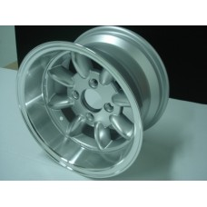 4 Jantes 8X13 tipo Minilite c/bordo polido c/ET-6 Ford Escort