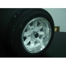 4 Jantes 6x12 branca bordo largo c/pneu Falken 165/60/12