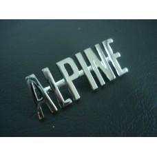 Legenda cromada Alpine