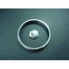 Aro e botão cromados de ventilador lateral do tablier (PAR)