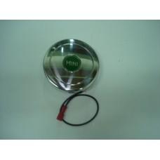 Centro p/cubo de volante c/buzina polido MOTO-LITA