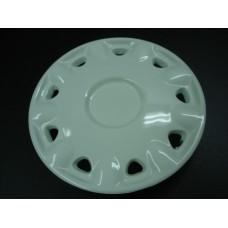 Tampão de roda em plástico branco Moke