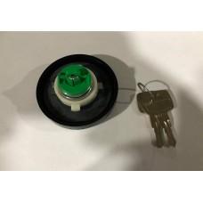 Tampão de gasolina com chave preto