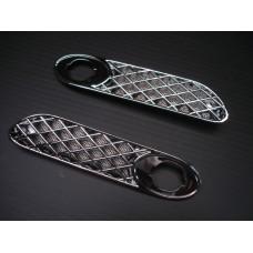 Grelhas cromadas de farolins de pisca lateral New Mini (par)