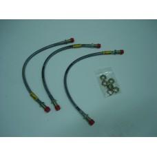 Kit 3 tubos de travão malha aço Ford Escort MK2