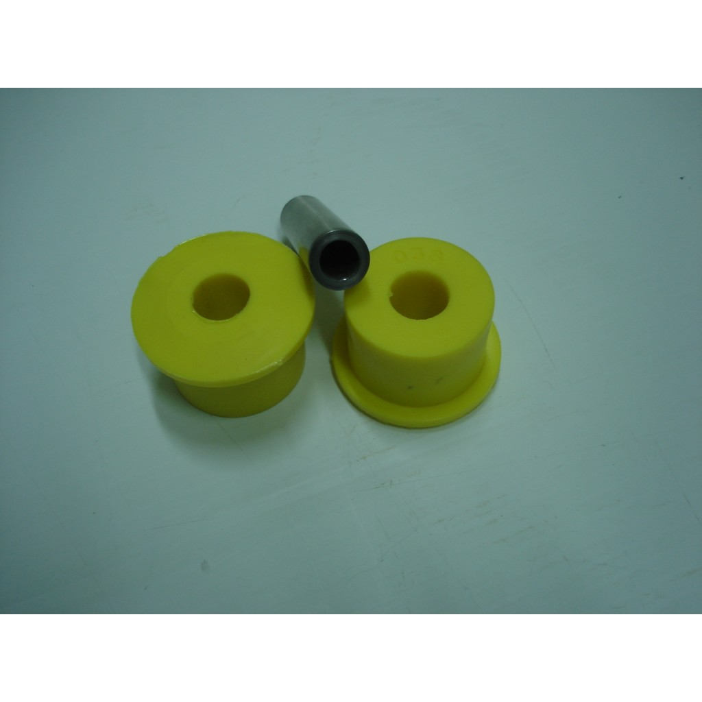 2 Casq. teflon diam.47mm c/casquilho metal c/furo 7/16 Ford