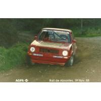 Rui Costa e o seu 1º rally em terra em Abrantes 1988