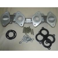 Colector admissão p/2 carburadores Weber 40/45 Datsun 1200