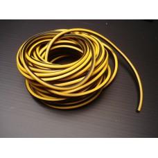 Fio de vela PVC amarelo/preto (preço metro)