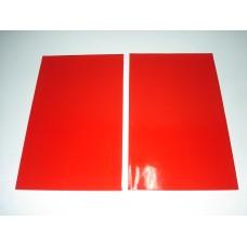 Palas roda vermelho 50x30cm (par)