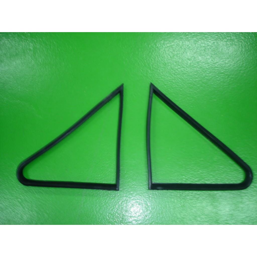 Borracha do triângulo vidro de porta Ford Escort MK1 (par)