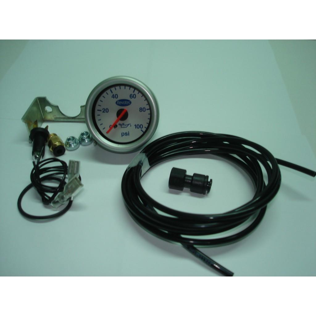 Manómetro pressão do óleo mecânico 0-100 Revotec