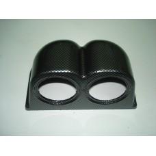 Caixa dupla carbono para 2 manometros 52mm