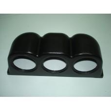 Caixa tripla preta para 3 manometros 52mm